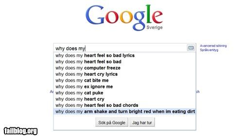 Autocomplete Me dirt eating failboat google g rated search - 4125431552