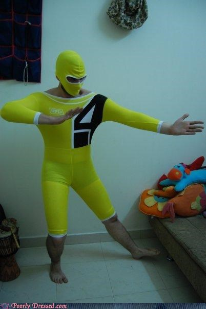 costume power rangers squeeze too small - 4125494528