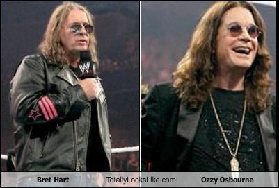 bret hart long hair musician Ozzy Osbourne wrestlers wwe
