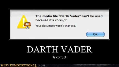 apple corruption darth vader empire hilarious mac star wars