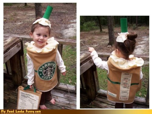 coffee costume drink frappuccino halloween Starbucks