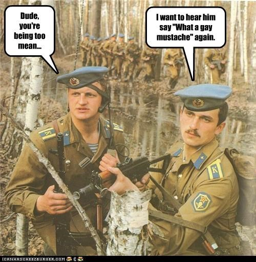 funny,lolz,military,soldiers,staged,vintage,weapons