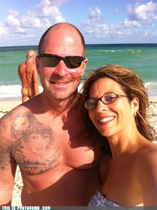 awesome,beach,butts,lion,photobomb,sexy times,tattoo