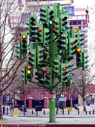 art confusion OverKill 9000 stoplights traffic vehicles wtf
