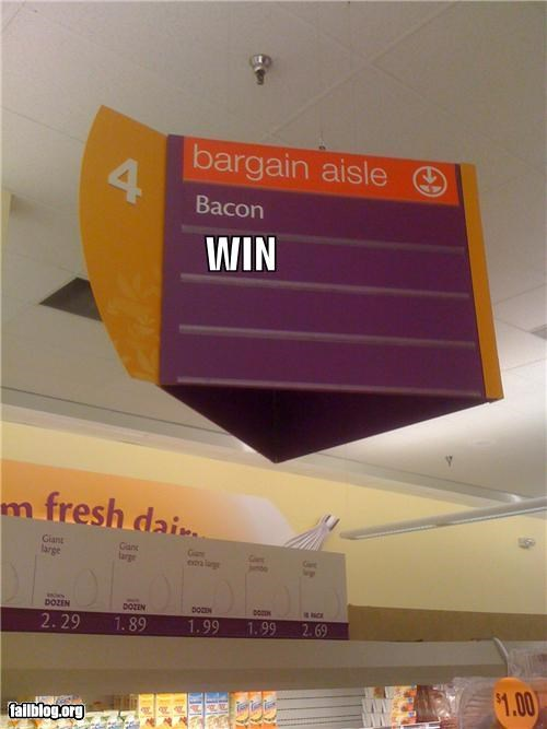 aisle,bacon,failboat,g rated,grocery store,win