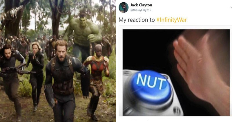 Trailer for Avengers Infinity War, memes and reactions to the trailer.
