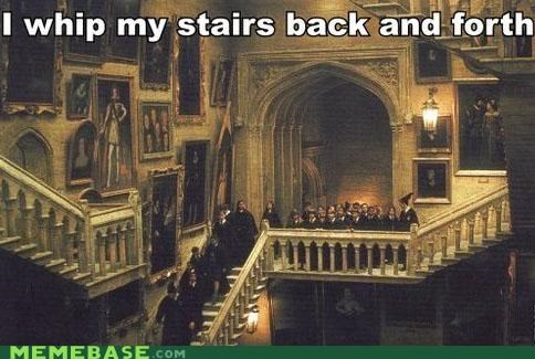 Harry Potter Hogwarts Memes moving staircase whip my hair willow smith witchcraft wizardry - 4127887872