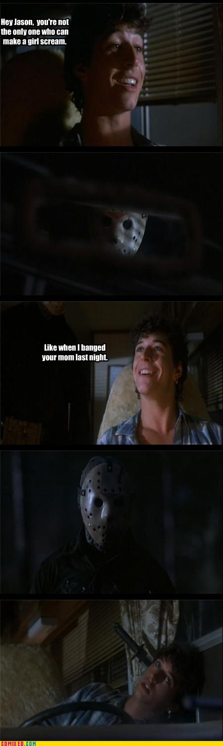 friday the 13th,From the Movies,girls,jason voorhees,mom jokes,screaming,sex