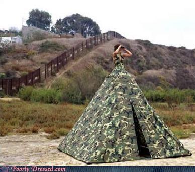 camo dress huge tent - 4128160000