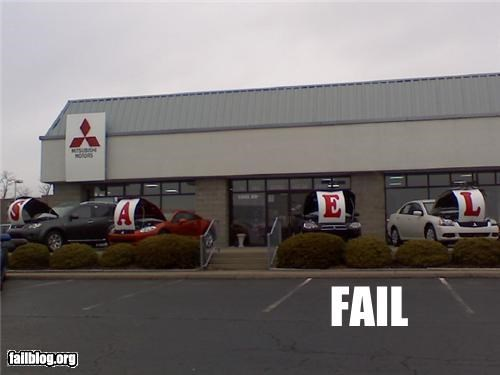 ads Car Dealership classic failboat g rated signs spelling - 4128172288