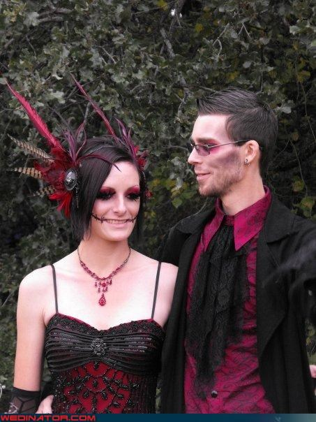 Crazy Brides crazy groom fashion is my passion funny wedding photos goth zombies themed wedding undead wedding were-in-love Wedding Themes zombie couture zombie sophistication zombie wedding zombie zombie-themed wedding
