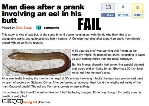 bad idea butts eels failboat pranks Probably bad News - 4128767232