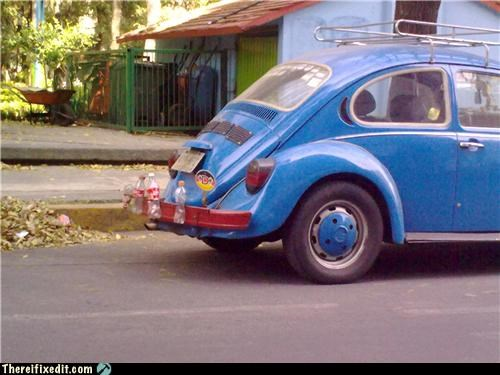 bumper,VW bug,water bottle