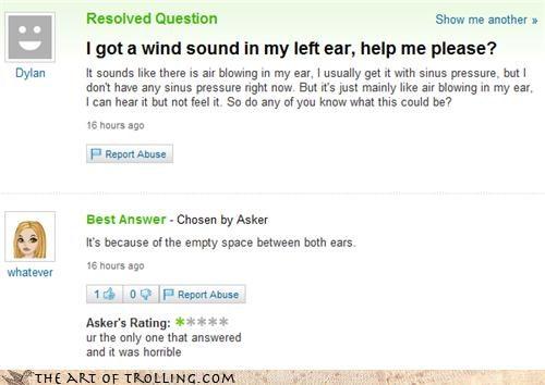 brain dullard ears empty sound wind - 4128956928