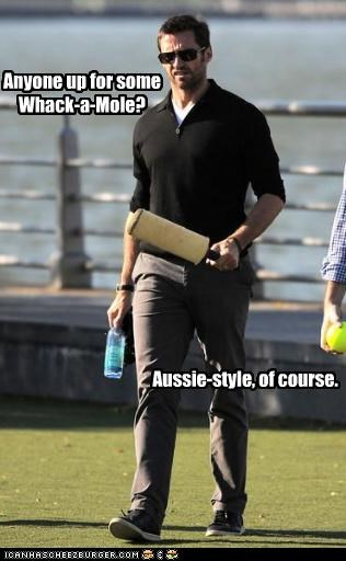 actor,australia,hugh jackman,lolz,whack a mole,wtf