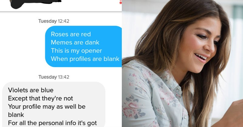 Guy successfully uses the Tinder app to win a girl over.