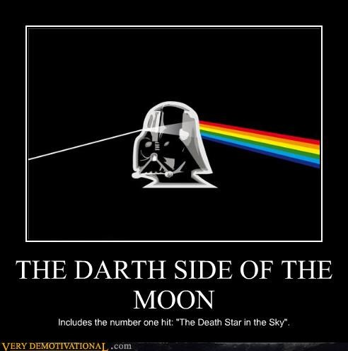 "THE DARTH SIDE OF THE MOON Includes the number one hit: ""The Death Star in the Sky""."