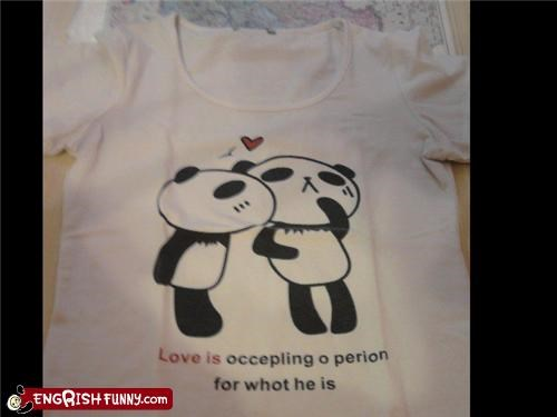 love,panda,shirt,spelling