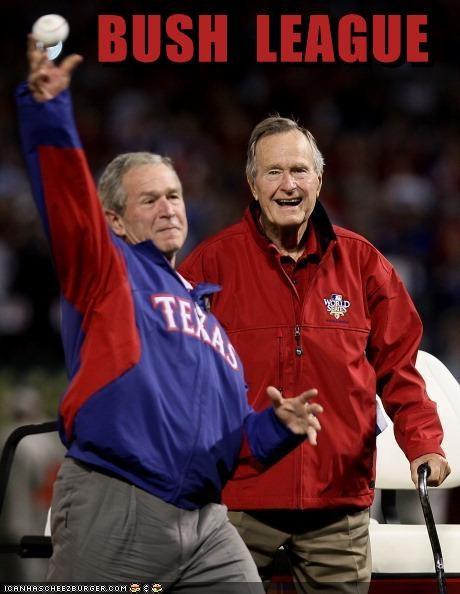 funny george-hw-bush george w bush lolz president republican sports - 4129218048