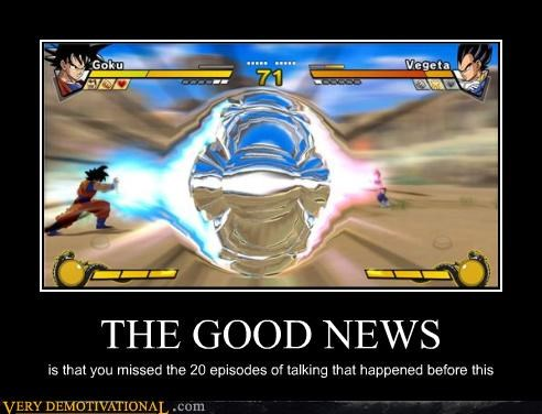 Dragon Ball Z goku good news hilarious vegeta Videogames