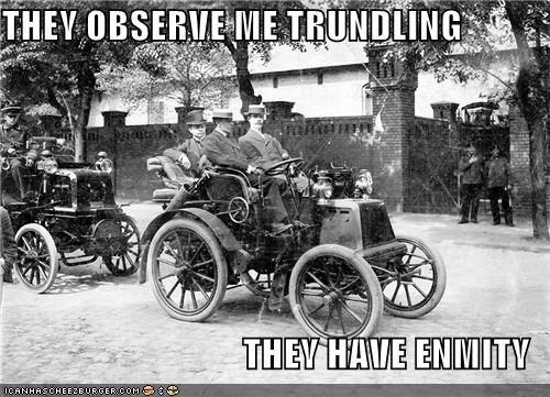 car old timey trundle - 4129332480
