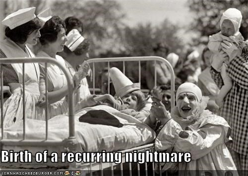 bed,children,clowns,nightmare