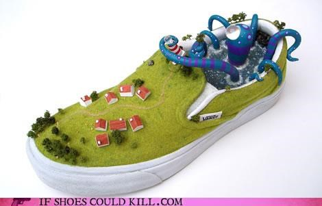 Animalia,loafer,monster,octopus,sculpture,vans,village