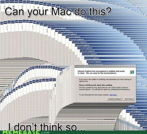 Error Report,Internet Exploder,mac,Memes,PC