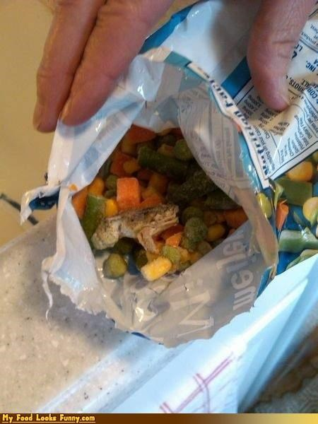 bag,frog,frozen,frozen frog,frozen vegetables,fruits-veggies,gross,vegetables