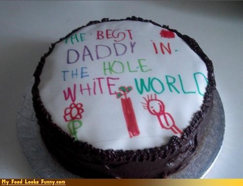 cake,daddy,racist,racist cake,Sweet Treats,white,white world