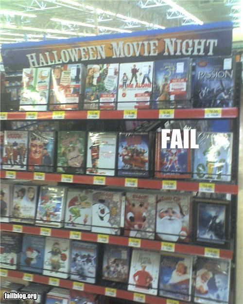 christmas,display,dvds,failboat,g rated,halloween