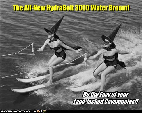 broom coven water skis Witches - 4130647040