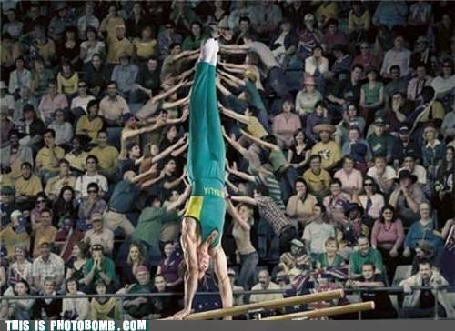 athlete cheater gymnast jk photobomb - 4131473152