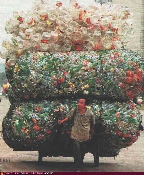 disposable society garbage OverKill 9000 plastic recyclables wtf - 4131685888