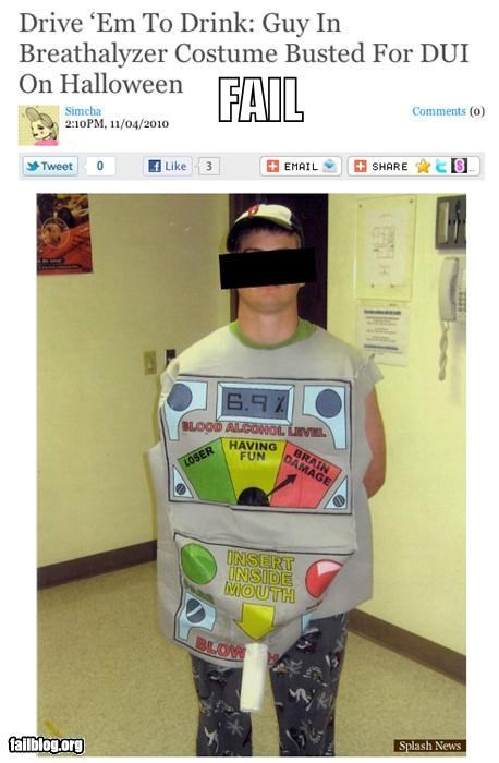 alcohol costume dui failboat halloween irony - 4133078016