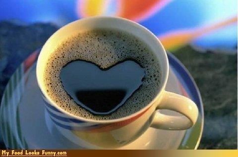 bubbles coffee cup foam heart love - 4134249216