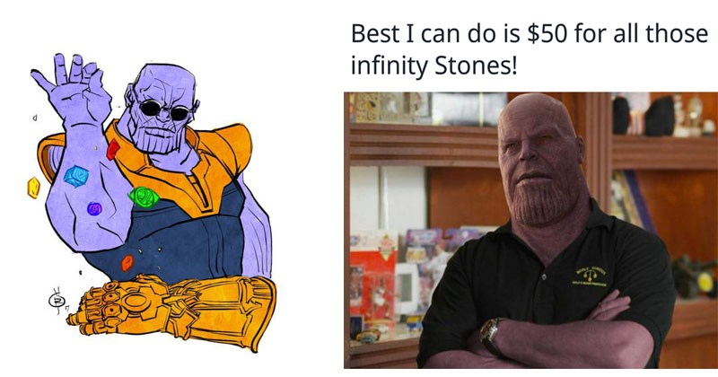 Funny memes about Thanos from Avengers Infinity War.