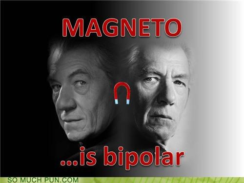 attraction,bipolar,LHC,magnet,magnetism,Magneto,manic depression,relationships,repulsion,x men
