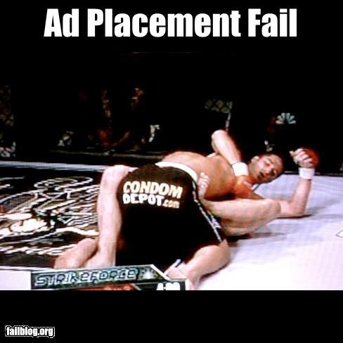 ads,condoms,failboat,mixed martial arts,placement,shorts,sports,ufc