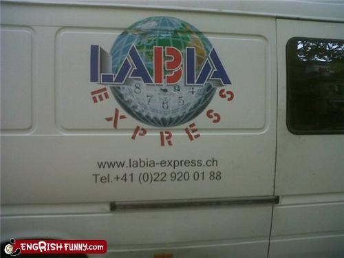 business FAIL sign van