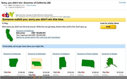 california ebay election FAIL funny Hall of Fame meg whitman