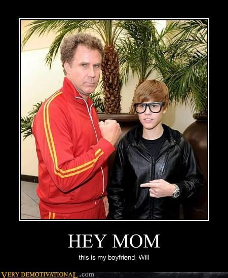 Will Ferrel mom justin bieber