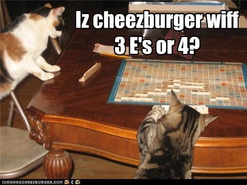 Iz cheezburger wiff 3 E's or 4?