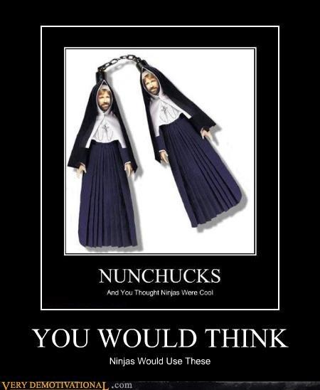 pun ninjas chuck norris nun - 4138446592