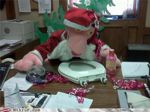 christmas office prank pepto bismol santa toilet