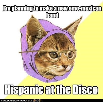 I'm planning to make a new emo-mexican band Hispanic at the Disco