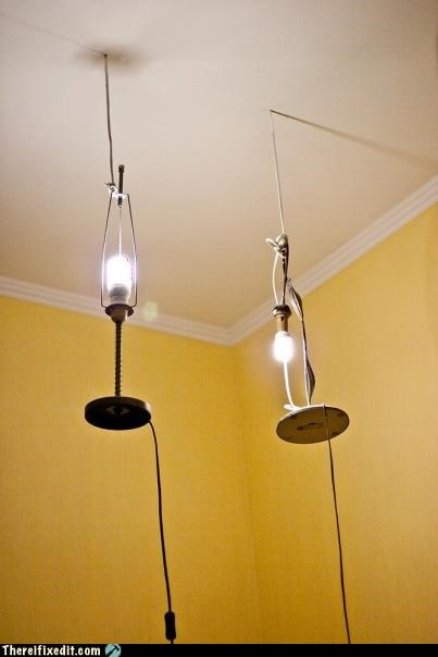 defies gravity fancy hanging lamp lighting