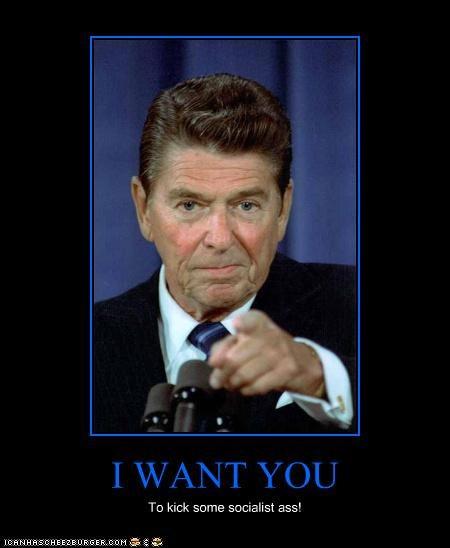 demotivational funny lolz president republican Ronald Reagan - 4140628992