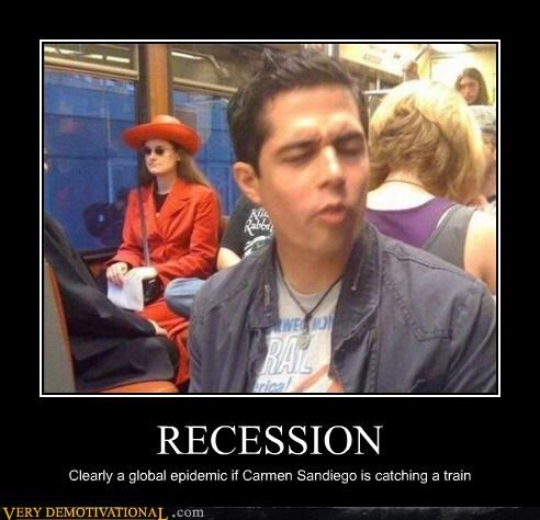 carmen sandiego modern living public transportation recession Sad sad but true