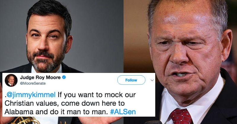 Roy Moore and Jimmy Kimmel are engaged in a ridiculous Twitter beef.